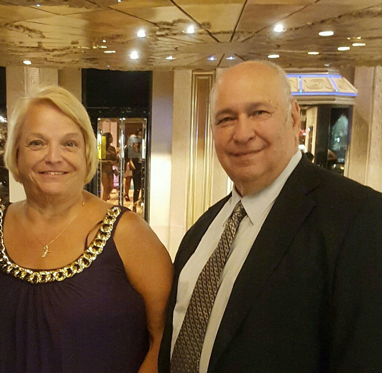 Bill and Phyllis on a cruise